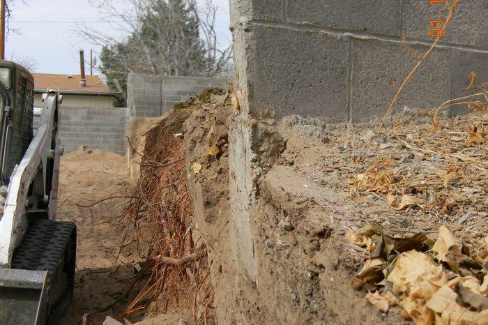 Demolition Retaining Wall Progress