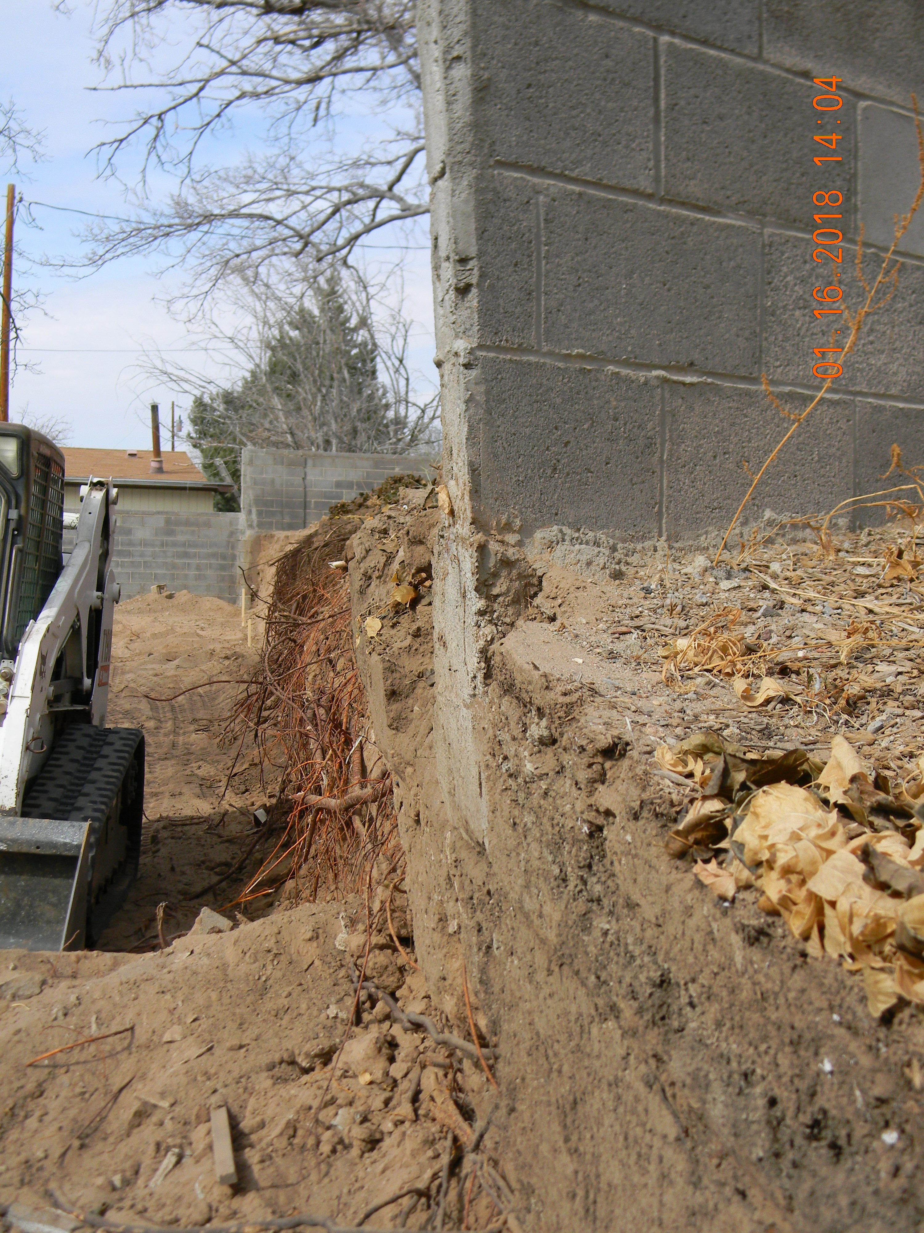 Demolition Retaining Wall Progress